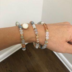 Ann Taylor Set of Beaded Bracelets